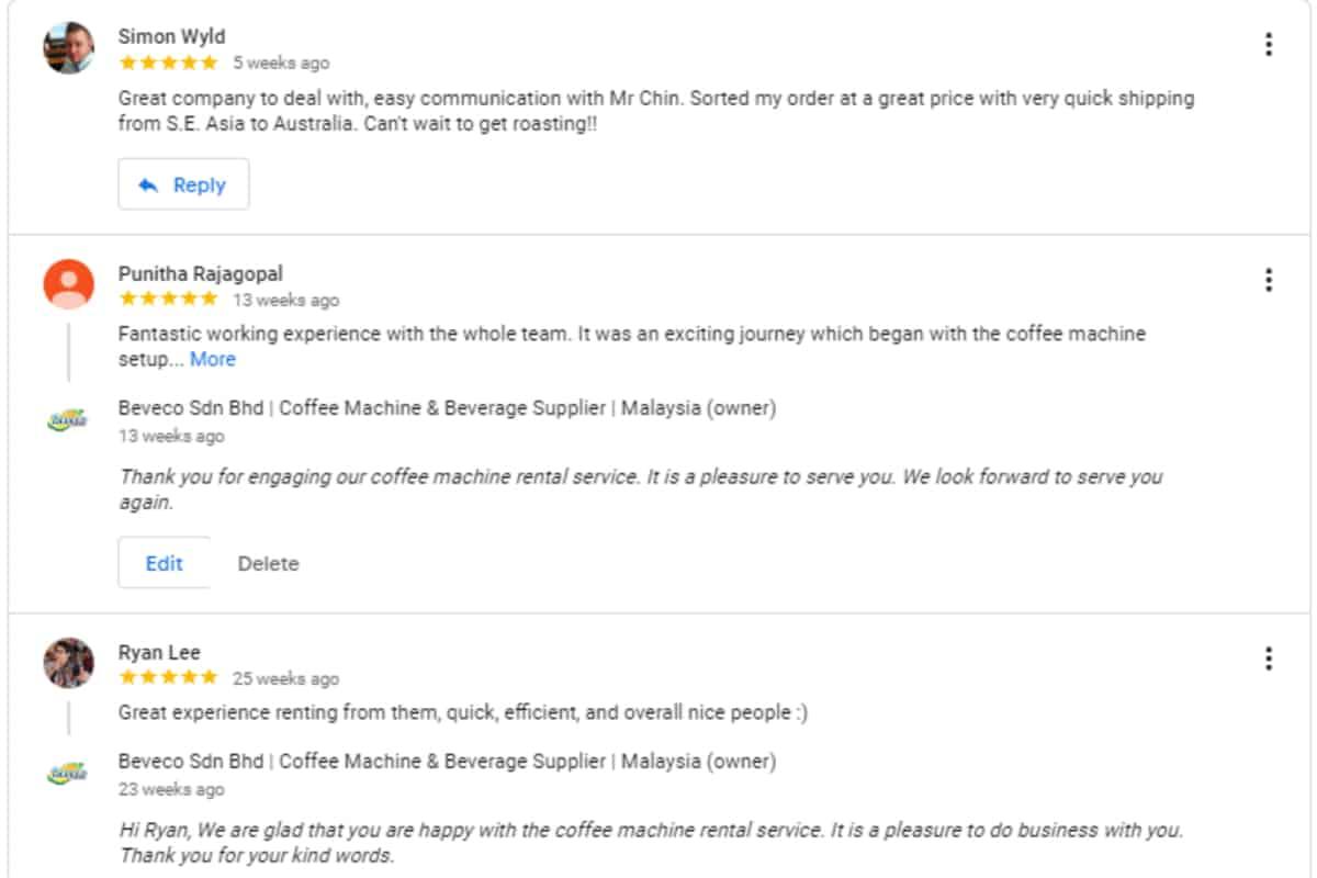 Beveco Customer Feedback
